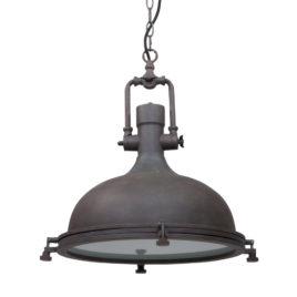 Stoere hanglamp Elmo bruin ø40 cm