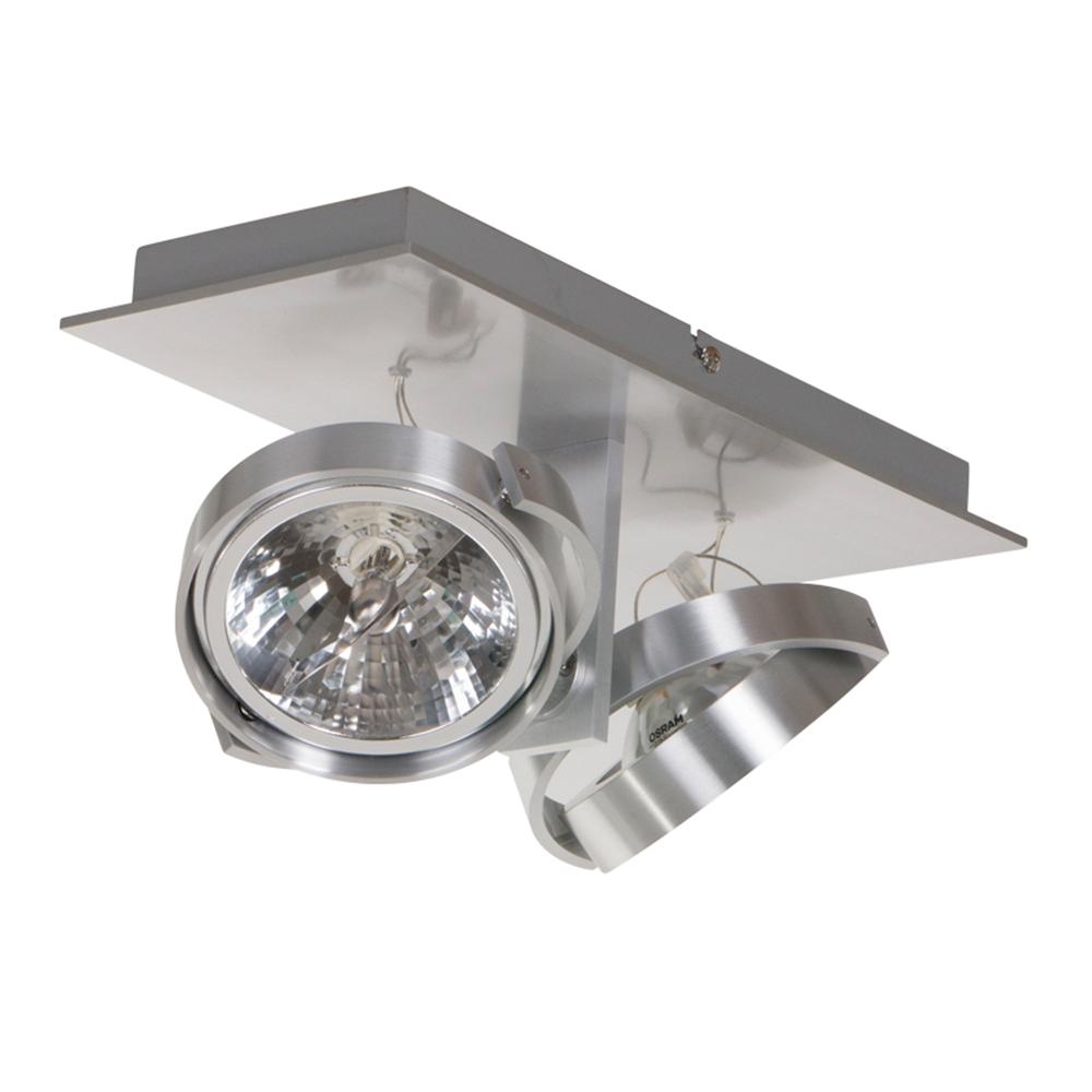 Industri le spot kanan 2 lichts staal industriele lampen for Industriele spots