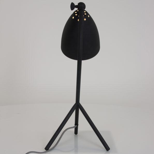 Zwarte industriele tafellamp