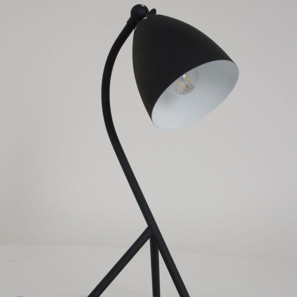 Industriele tafellamp zwart