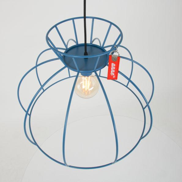 Blauwe draadlamp Anne
