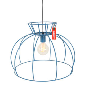 Blauwe hanglamp Anne
