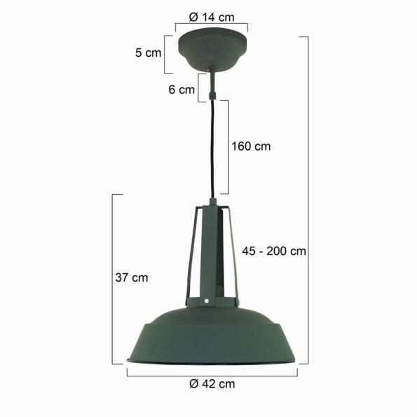 grijze industriele fabrieks hanglamp