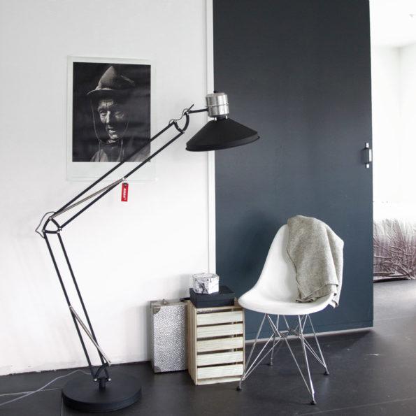XXL vloerlamp zappa zwart Stoer