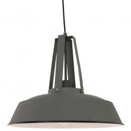 Grijze hanglamp industrieel