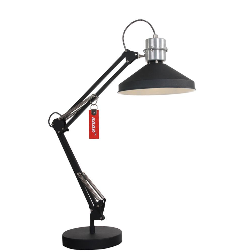 industri le tafellamp anne zappa 80 cm zwart industriele. Black Bedroom Furniture Sets. Home Design Ideas