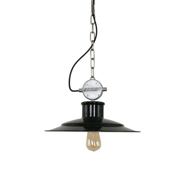 Robuuste industriele hanglamp zwart