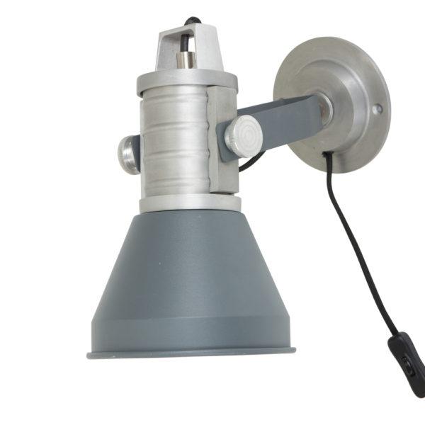 industriele wandlamp grijs