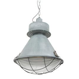 Grote grijze fabriekslamp hanglamp