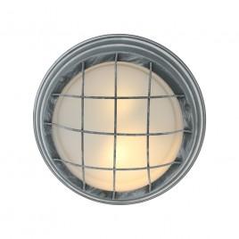 Grijze industriële roosterlamp