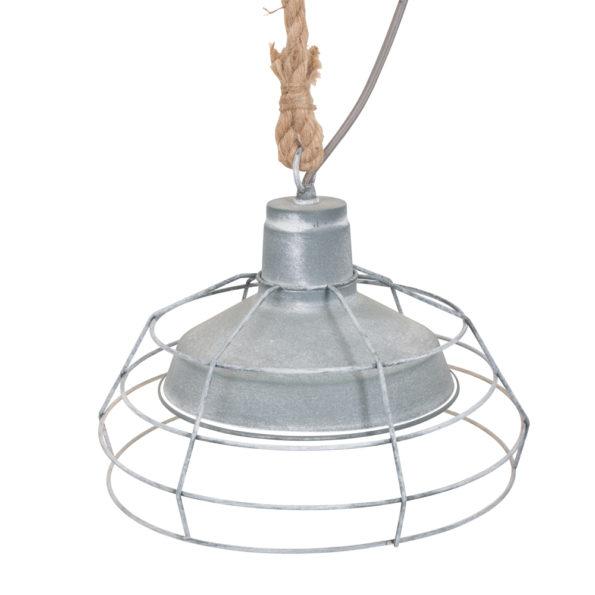Industriële kooilamp met touw