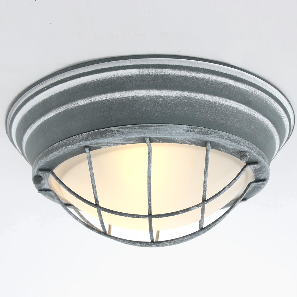 robuuste rooster plafondlamp grijs