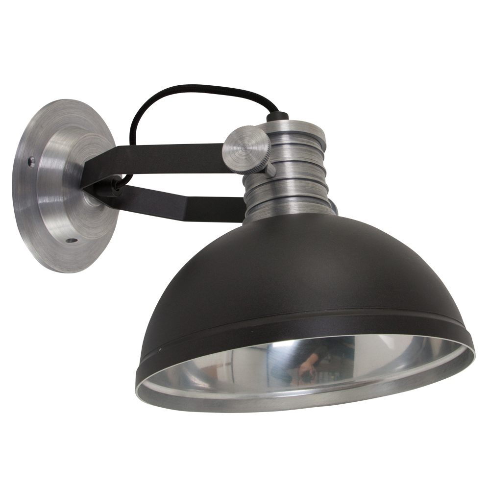 Industriele wandlamp finn zwart for Lamp industrieel