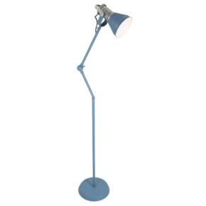 industriele blauwe vloerlamp