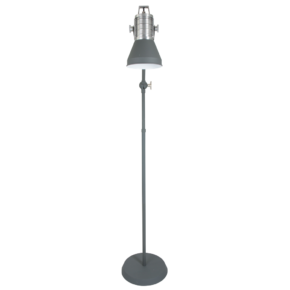 grijze vloerlamp industrieel