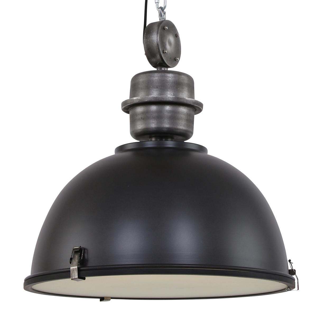 hanglamp industrieel core xl zwart 52cm industriele lampen online. Black Bedroom Furniture Sets. Home Design Ideas