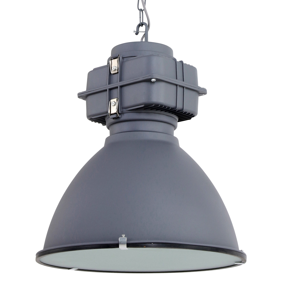 Robuuste hanglamp toronto antraciet industriele lampen for Lamp industrieel