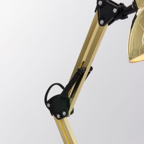 gouden knikbare vloerlamp