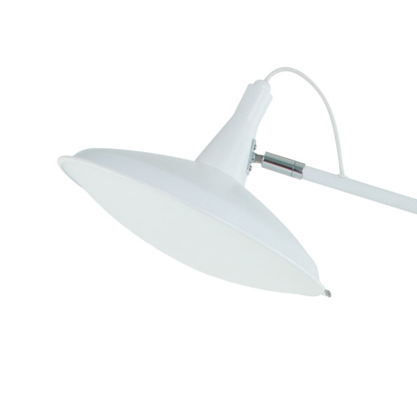witte vloerlamp kap