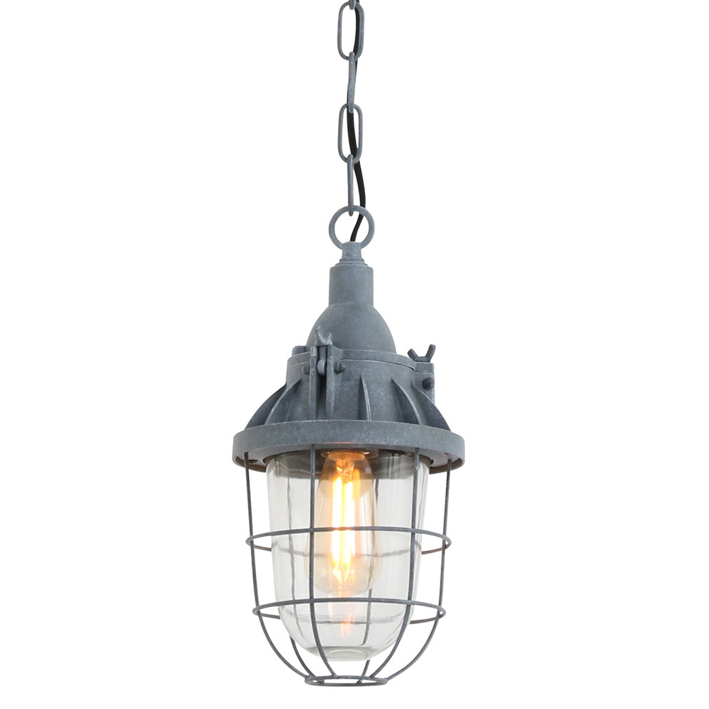 Scheepslampje viga grijs industriele lampen online for Kleine industriele hanglamp
