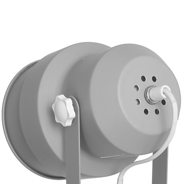 achterkant bureaulamp grijs
