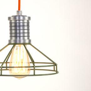 detail groene hanglamp