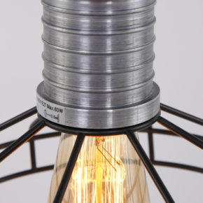 detail zwarte hanglamp wire o