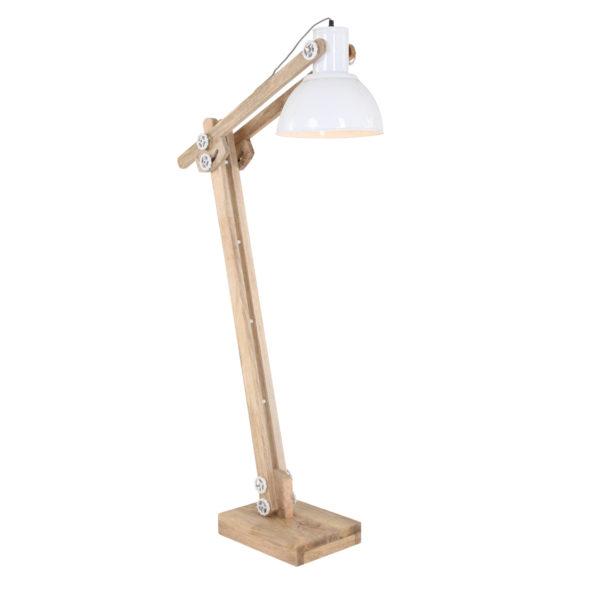 houten staande lamp