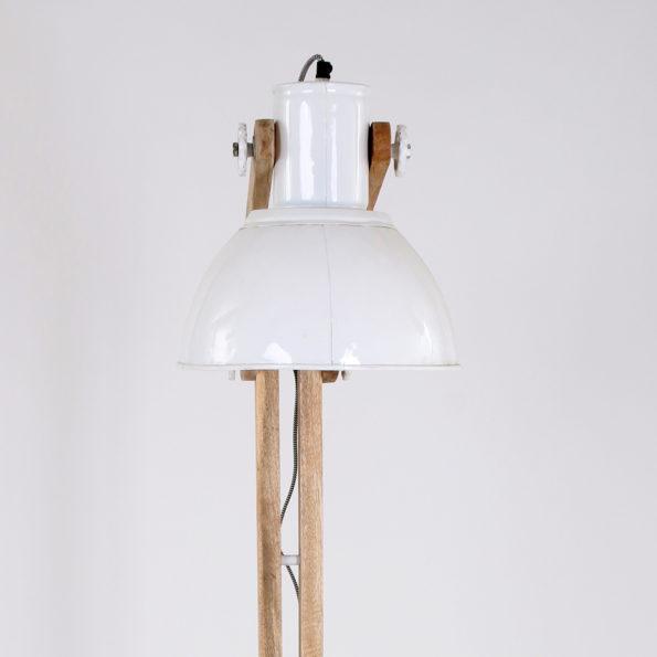 industriele houten vloerlamp