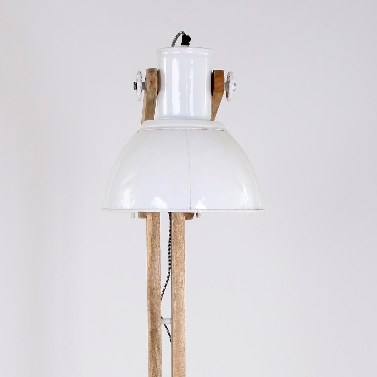 Industriele Staande Lamp Hout.Scandinavische Vloerlamp Kopenhagen Wit
