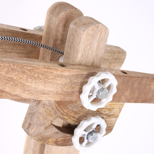 vloerlamp hout
