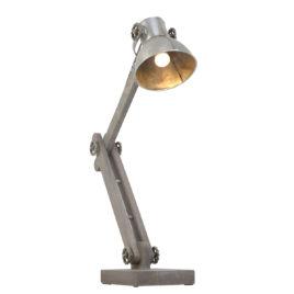 zilveren bureaulamp hout