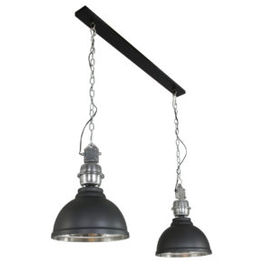 Aluminium hanglamp Clinton zwart-7981ZW