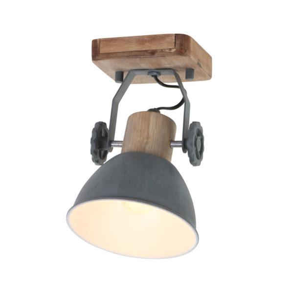 Houten wandlamp Gearwood grijs-7968GR