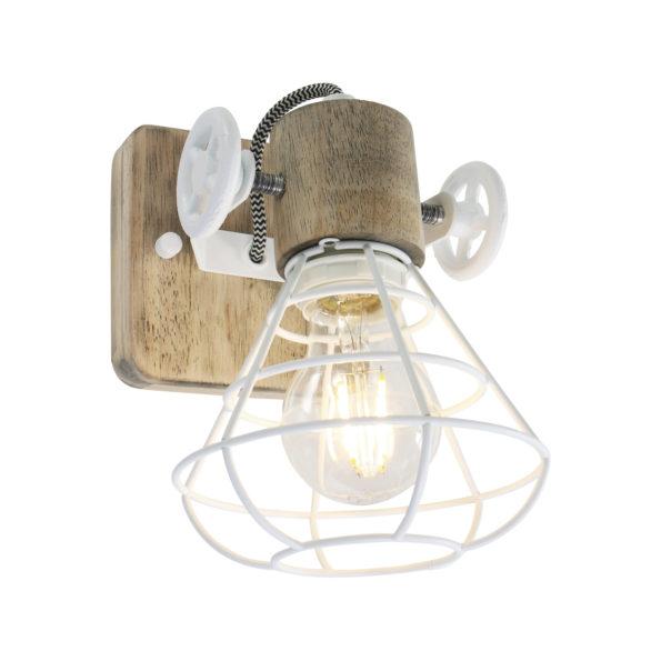 Houten wandlamp Guernsey wit-1578W