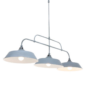 Industriële hanglamp Ivy grijs-1319GR
