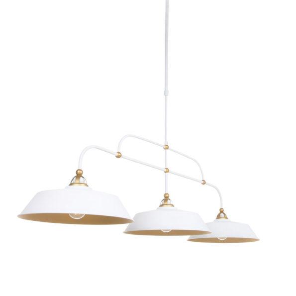 Industriële hanglamp Ivy wit-1319W