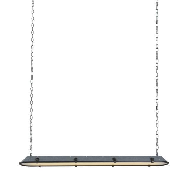 Industriële hanglamp Tubular grijs-1571GR