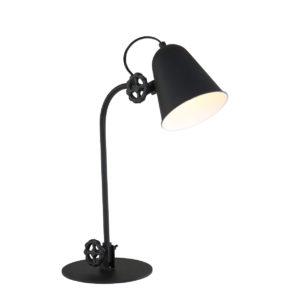 Industriële tafellamp Dolphin zwart-1324ZW