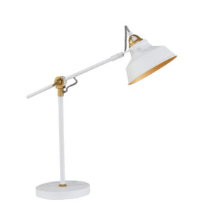 Industriële tafellamp Ivy wit-1321W