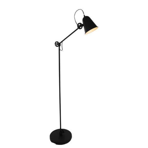 Industriële vloerlamp Dolphin zwart-1325ZW