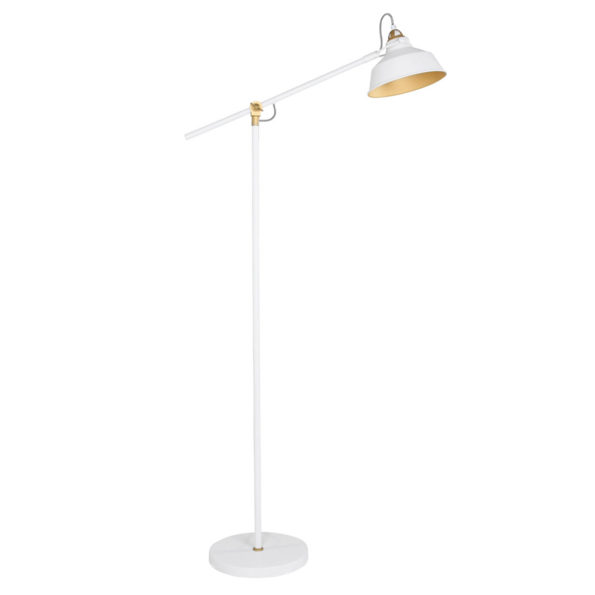 Industriële vloerlamp Ivy wit-1322W