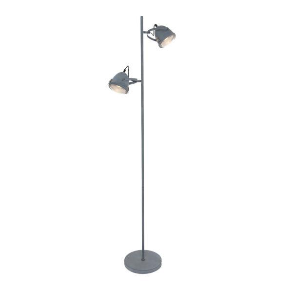 Industriële vloerlamp Paco grijs-1576GR