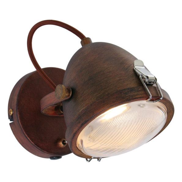 Industriële wandlamp Dublin bruin-1311B