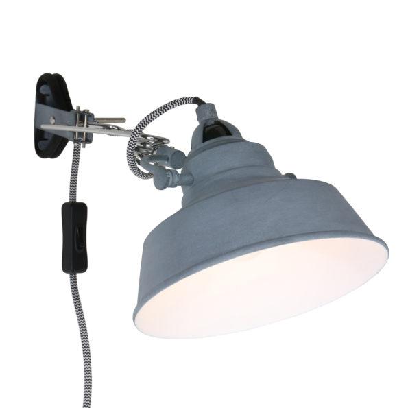 Industriële wandlamp Ivy grijs-1320GR