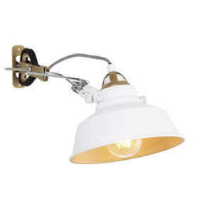 Industriële wandlamp Ivy wit-1320W