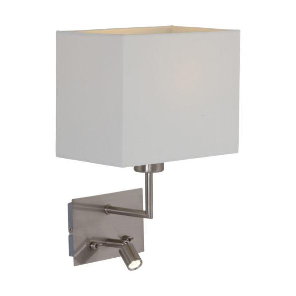 Industriële wandlamp nickel-1472ST