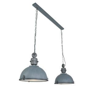 Metalen hanglamp Bikkel Duo grijs-7979GR