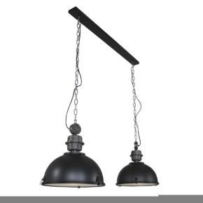 Metalen hanglamp Bikkel Duo zwart-7979ZW