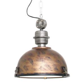 Metalen hanglamp Bikkel bruin-7978B